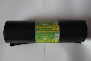Worki na śmieci LDPE 60L a'50 czarne grube