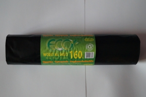 Worki na śmieci LDPE 160L a'10 czarne grube