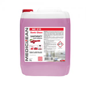 MEDICLEAN MC 310 Preparat do mycia urządzeń sanitarnych 5L wiśnia