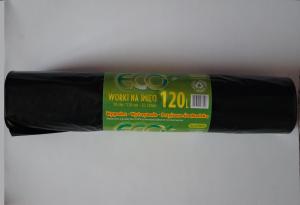 Worki na śmieci LDPE 120L a'25 czarne grube